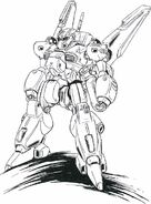 RS-NF-81 STI SES Nemo Sword Custom Front View Lineart