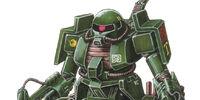 MS-06V-6 Zaku Tank Green Makaku