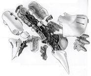 AMX-004 Qubeley Leg Cut Away