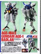 AGE-1BA Gundam AGE Badlan - Scratchbuild Model 1