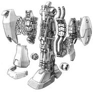 RGM-79N GM Custom - Leg Internal View