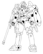 OZ-00MS2 Tallgeese II Front View Lineart