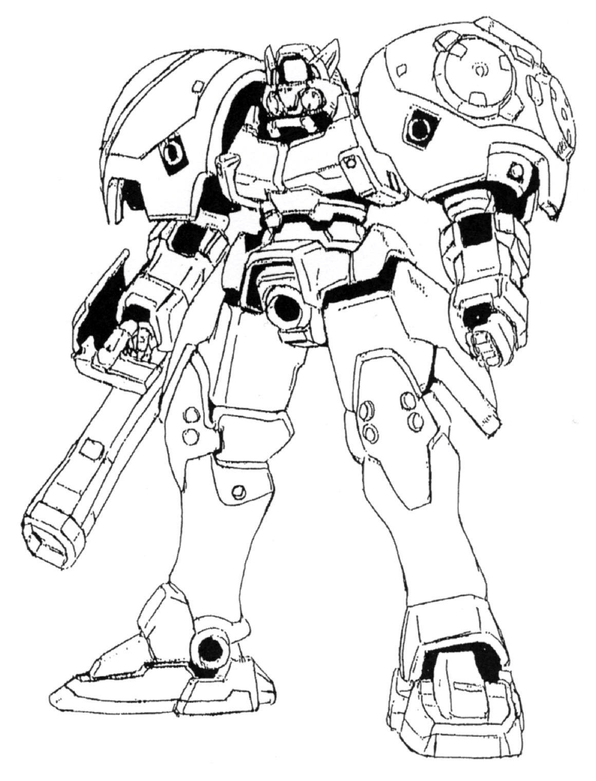 Image oz 02md virgo front view the gundam for Gundam wing coloring pages