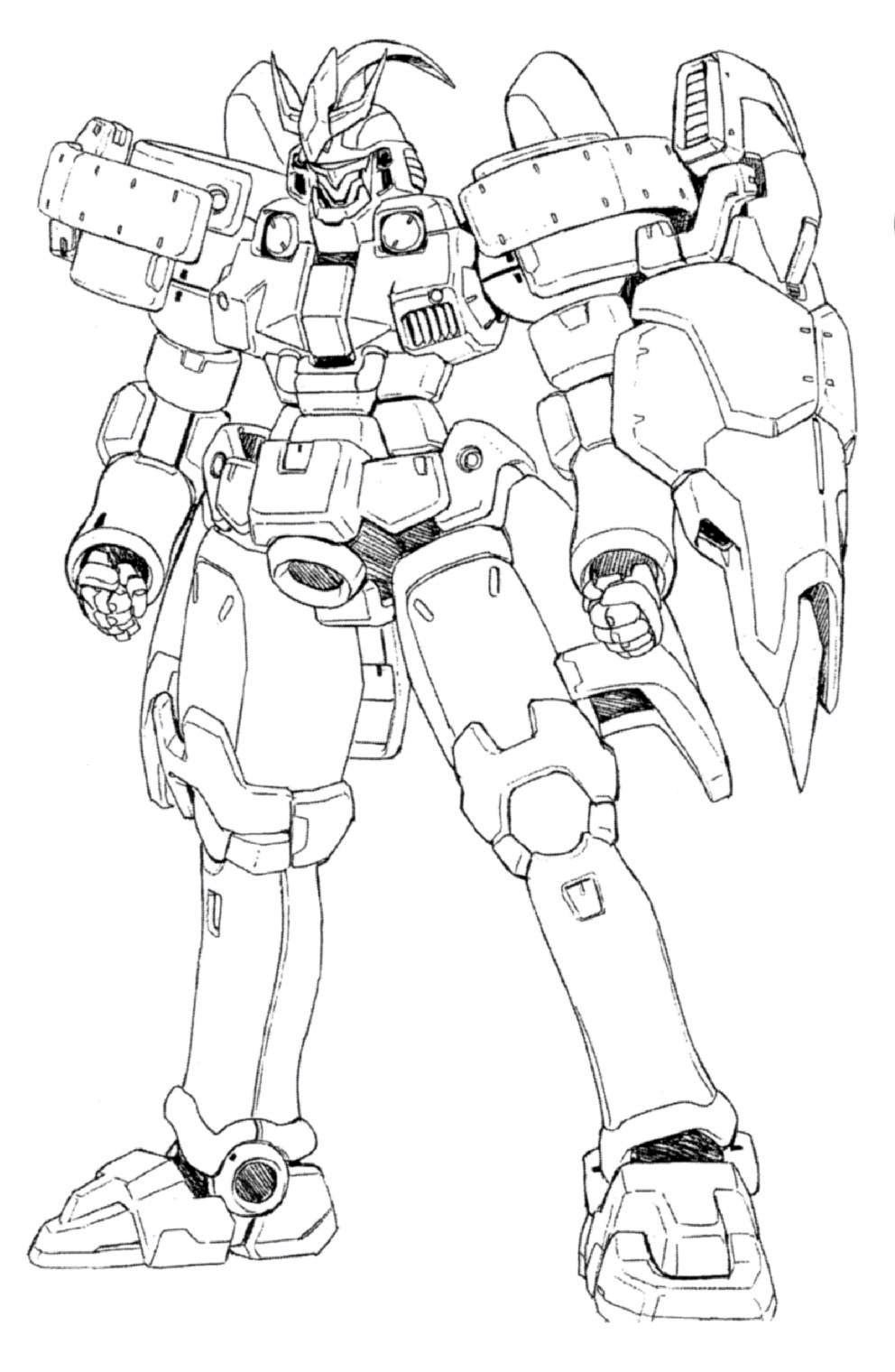 Zaku Lineart : Image oz ms tallgeese iii front lineart g the