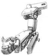 RGM-79N GM Custom - Arm Internal View