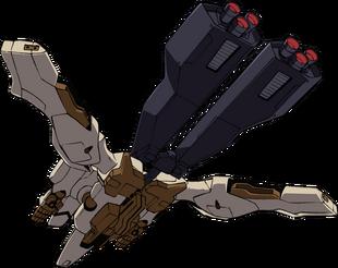 Rear (Flight Mode w/ Large Booster)
