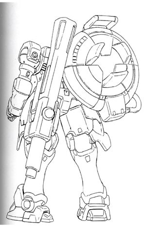 OZ-13MSX1 Vayeate Back View Lineart