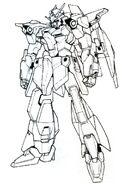 Lightning Gundam BW front lineart