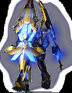 RX-0 Unicorn Gundam 03 Phenex (Destroy Mode) CG Art (Rear)