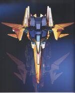 Delta Gundam CG - MA Front View