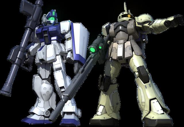 File:GM Sniper II White Dingo & Zaku I Sniper (Yonem Kirks).png