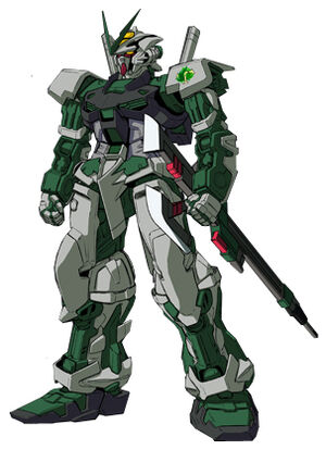 Front (w/ Twin Sword Rifle (stored))