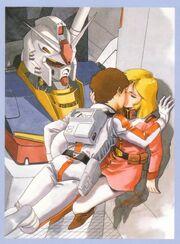 Sayla and Amuro kiss