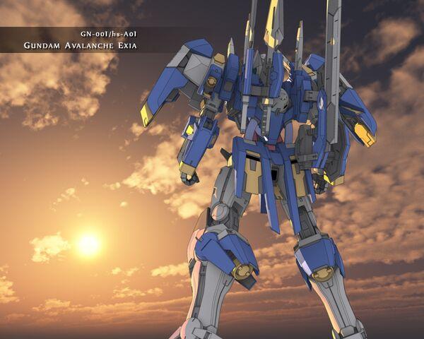 File:Gundam Avalanche Exia Sunset Wallpaper.jpg