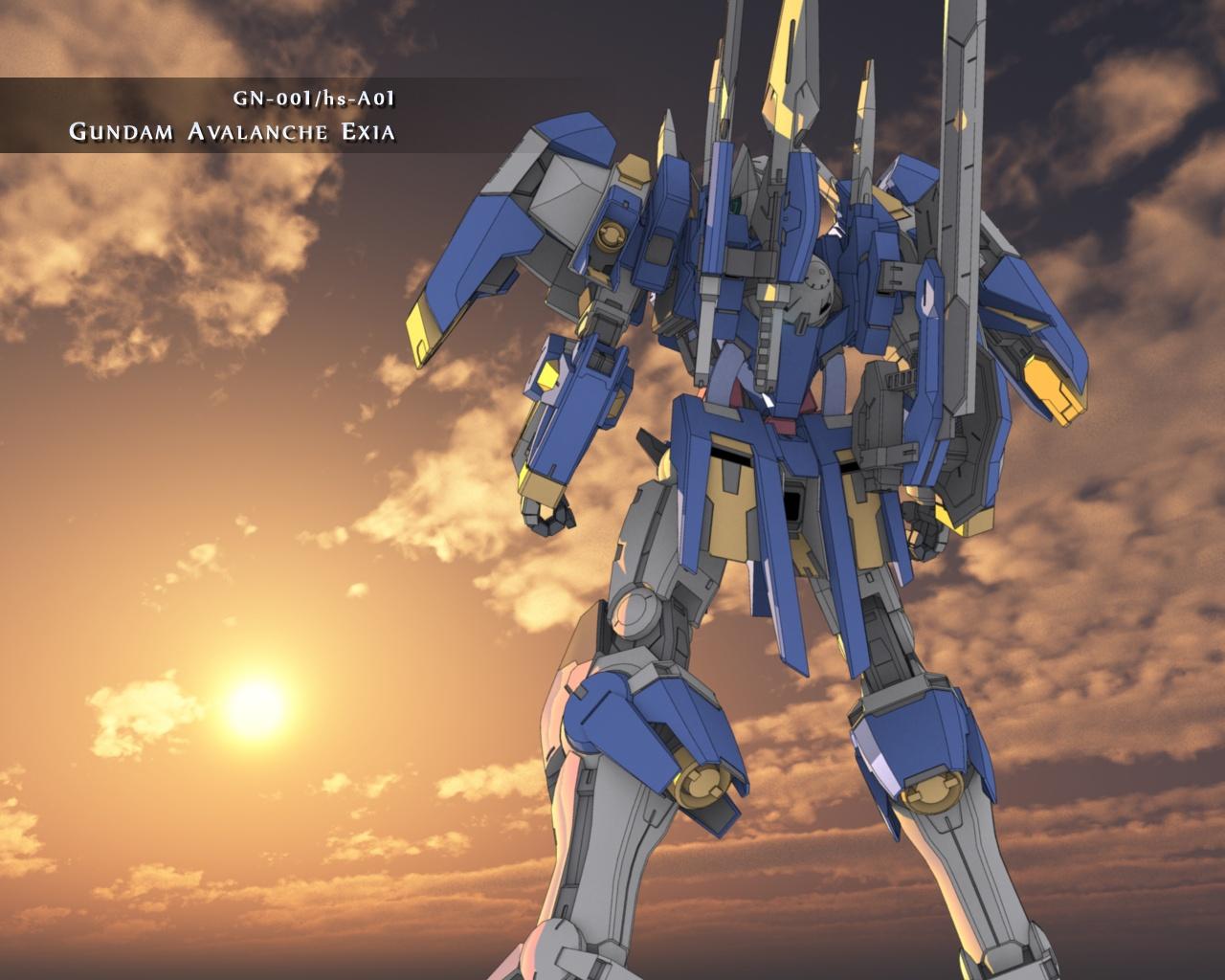 GN-001/hs-A01 Gundam Avalanche Exia - The Gundam Wiki - Wikia Gundam Wing Deathscythe Hell Wallpaper