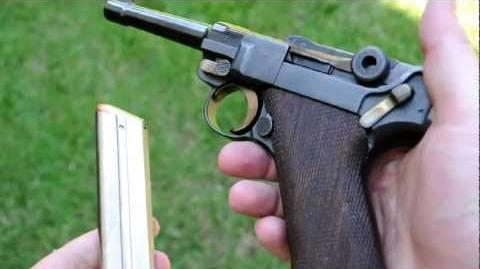 Shooting the Luger P08 9mm pistol