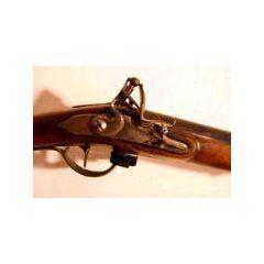 A flintlock's hammer with flint, <a href=