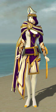 White Mantle Disguise F dyed front
