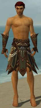 Ritualist Monument Armor M gray arms legs front