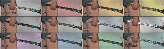 Shamanic Wand dye chart