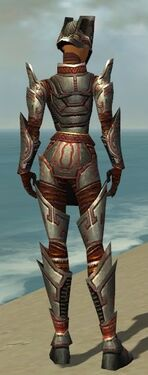 Warrior Asuran Armor F gray back