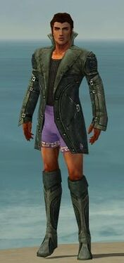 Mesmer Kurzick Armor M gray chest feet front