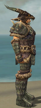 Warrior Charr Hide Armor M gray side