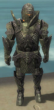 Warrior Elite Platemail Armor M gray front