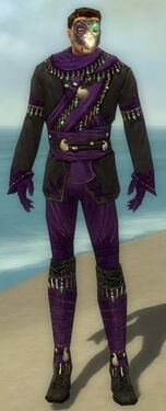 Mesmer Elite Luxon Armor M dyed front