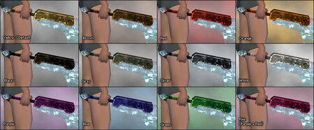Crystalline Sword dye chart