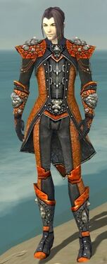 Elementalist Elite Stoneforged Armor M dyed front