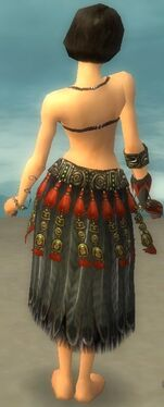 Ritualist Asuran Armor F gray arms legs back