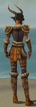Warrior Charr Hide Armor F dyed back