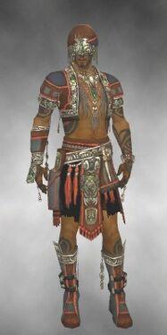 Ritualist Asuran Armor M gray front