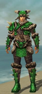 Warrior Elite Charr Hide Armor M dyed front