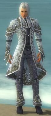 Elementalist Elite Iceforged Armor M gray front