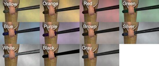 Rusty Machete Dye Chart