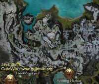 Jaya Bluffs map