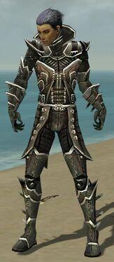 Necromancer Elite Kurzick Armor M gray front