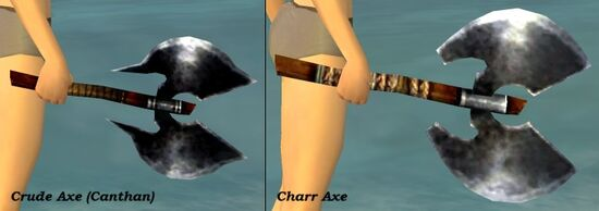 Charr Canthan Crude Axe Comparison
