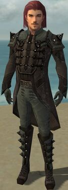 Mesmer Obsidian Armor M gray front