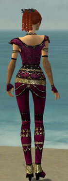 Mesmer Elite Luxon Armor F dyed back