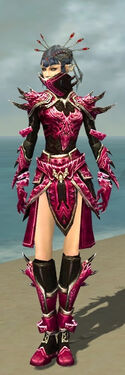 Necromancer Asuran Armor F dyed front