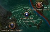 Unwaking Waters map