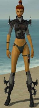 Assassin Kurzick Armor F gray chest feet front