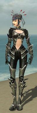 Necromancer Kurzick Armor F gray front