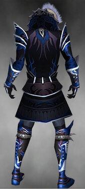 Necromancer Deldrimor Armor M dyed back