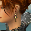 Elementalist Elite Kurzick Armor F gray earrings