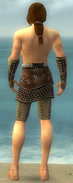 Ranger Studded Leather Armor M gray arms legs back