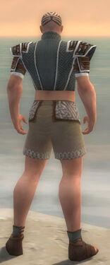 Monk Elite Judge Armor M gray chest feet back